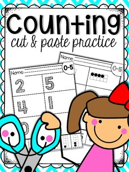 Counting Sets Cut & Paste Practice Sheets