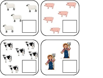 Counting Sets - Farm Animals