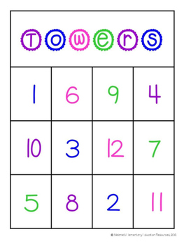 Counting Sets Number Towers