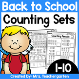 Counting Sets (Numbers 1-10) ~ Back to School