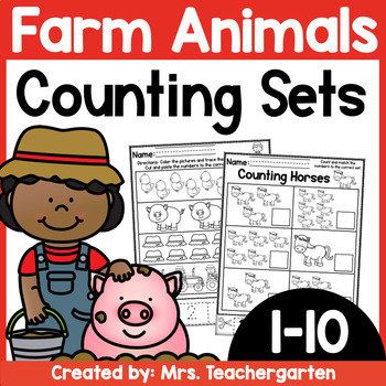 Counting Sets (Numbers 1-10) ~ Farm themed