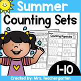 Counting Sets (Numbers 1-10) ~ Summer themed