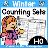 Counting Sets (Numbers 1-10) ~ Winter themed