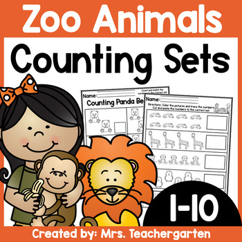 Counting Sets (Numbers 1-10) ~ Zoo Animals