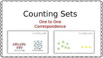 Counting Sets One to One Correspondence Game