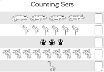 Counting Sets (Animals Theme)