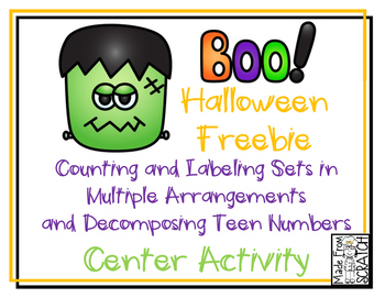 Counting Sets and Decomposing Teen Numbers FREEBIE