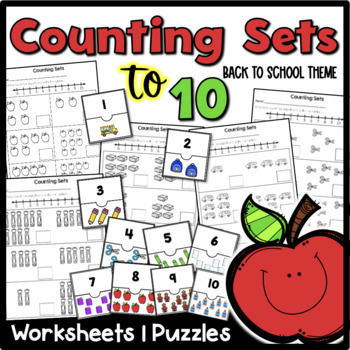 Counting Sets to 10 {Back to School Theme}