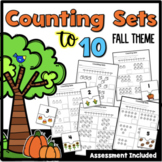 Counting Sets to 10 Worksheets {Fall Theme} 16 Pages