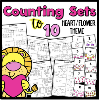 Counting Sets to 10 {Hearts/Flowers Theme}