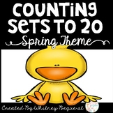 Counting Sets to 20: Spring Theme