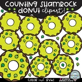 Counting Shamrock Donut Clipart {St. Patrick's Day clipart}