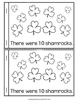 St. Patrick's Day Emergent Reader - Counting Shamrocks