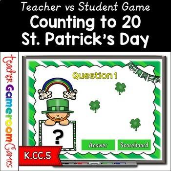 Counting Shamrocks - Teacher vs Student Powerpoint Game