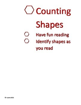 Counting Shapes book 1-10