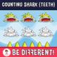 Counting Shark Clipart 0-20 (Teeth)