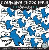 Counting Shark Teeth Clipart