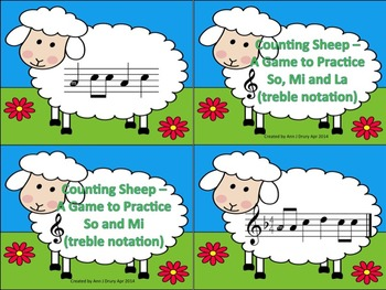 Counting Sheep - A 2 Game Bundle for Practicing Ta and Ti-Ti and s,m and l