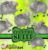 Counting Sheep Clip Art Animal Arithmetic Lessons