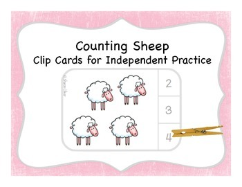 Counting Sheep:  Clip Cards for Independent Practice