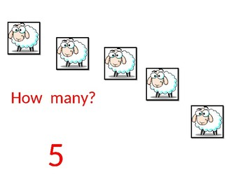 Counting Sheep numbers 1 to 20 making sets COMMON CORE and TEKS