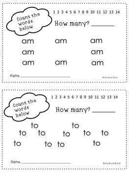 Counting Sight Words