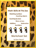 Zoo Animals, Special Education Math, Kindergarten Math, Math Centers