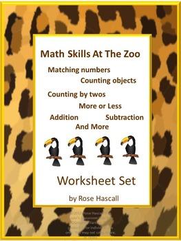 Zoo Animals, Special Education Math, Kindergarten Math, Math Centers