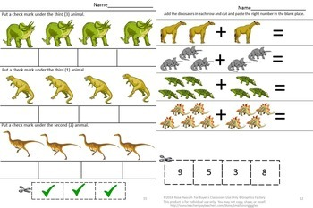 Dinosaurs,Counting Skills,Counting Activities,Kindergarten,Special Education