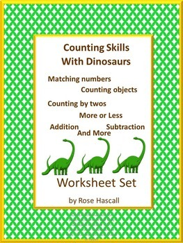 Math Center Counting Skills With Dinosaurs