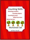 Special Education Math Worksheets Counting Comparing Numbers Shapes Sequencing
