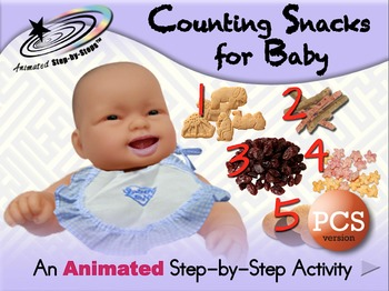 Counting Snacks for Baby - Animated Step-by-Step Activity - PCS