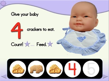 Counting Snacks for Baby - Animated Step-by-Step Activity - Regular