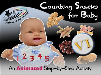 Counting Snacks for Baby - Animated Step-by-Step Activity - VI
