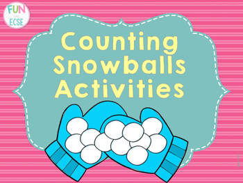 Counting Snowballs 1-10 Activities