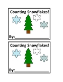 Counting Snowflake Emergent Reader Book in Color for Preschool or Kindergarten