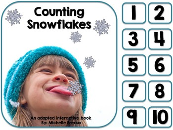 Counting Snowflakes- Adapted Winter Counting Book {Autism,