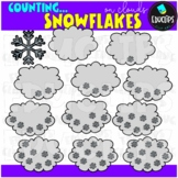 Counting Snowflakes Clip Art Bundle {Educlips Clipart}