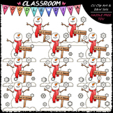 (0-10) Counting Snowflakes Clip Art - Sequence, Counting & Math Clip Art & B&W
