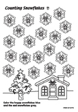 Counting Snowflakes Coloring Activity
