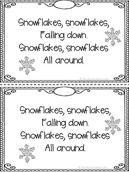 Counting Snowflakes Emergent Reader