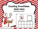 Counting Snowflakes Math Mats 0-10
