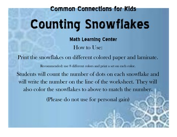 Counting Snowflakes Numbers 1-20