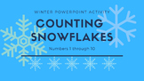 Counting Snowflakes PowerPoint, Numbers 1 Through 10