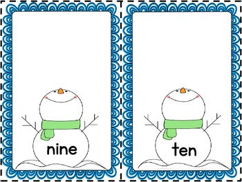 Counting Snowflakes Practice Mats (Numbers 1-20 & Number Words 1-10)