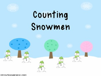 Interactive Counting Snowmen Notebook