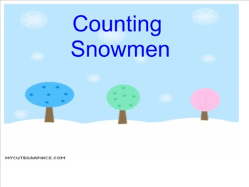 Counting Snowmen Smart Notebook