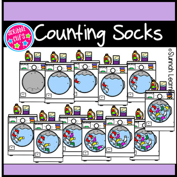 Counting Socks Clipart
