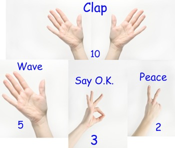 Interactive Song - Clap with 10 - Song - Counting - Numbers - Printables