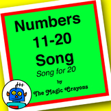 English Counting 11-20 Song 1 for ESL, EFL, Kindergarten.